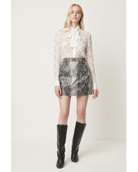 French Connection - Elias Pu Reptile Mini Skirt - Lyst