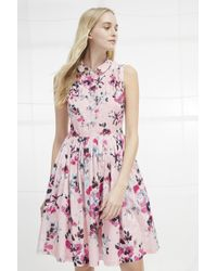 French Connection - Linosa Voile Fit And Flare Dress - Lyst