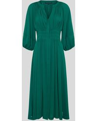 French Connection Cora Pleated Dress - Green