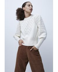 French Connection Babysoft Cropped Bobble Knit Jumper - Multicolour