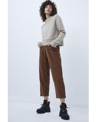 French Connection Sori Jumbo Cord Barrel Jeans - Brown
