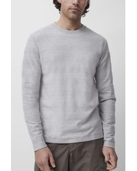 French Connection Engineered Loopback Striped Top - Grey