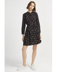 French Connection - Hester Drape Belted Shirt Dress - Lyst
