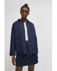 French Connection - Jule Contrast Stitch Utility Jacket - Lyst