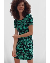 French Connection Florey Crepe Short Sleeve Dress - Green