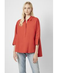 French Connection Aoko Rhodes Popover Shirt - Orange