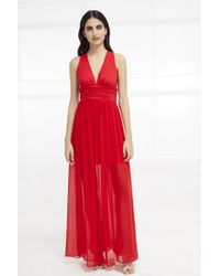 French Connection - Andros Jersey Halter Maxi Dress - Lyst