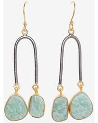 French Connection Semi Precious Stone Drop Earrings - Multicolor