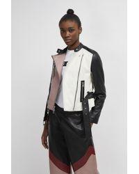 French Connection Adela Leather Biker Jacket - Black