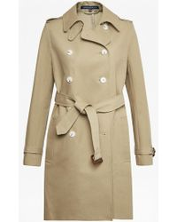 French Connection - Freeway Cotton Belted Coat - Lyst