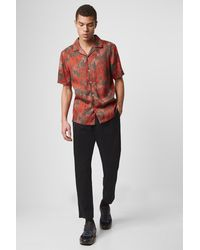 French Connection Dione Palm Tree Print Shirt - Red