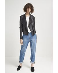 French Connection Stephanie Pu Waterfall Jacket - Black
