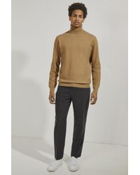 French Connection Stretch Cotton Roll Neck Sweater - Natural