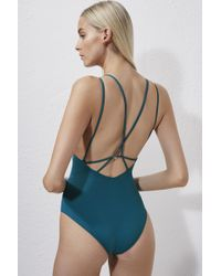 French Connection Cross Back Swimming Costume - Multicolor