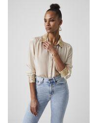 French Connection Eshka Sequin-detail Shirt - Multicolour