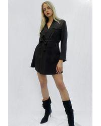French Connection Colet Wrap Tuxedo Dress - Black