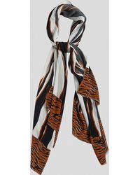 French Connection Amur Tiger Print Scarf - Black