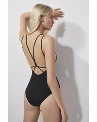 French Connection Cross Back Swimming Costume - Black