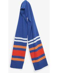 French Connection Pop Colour Stripe Scarf - Blue