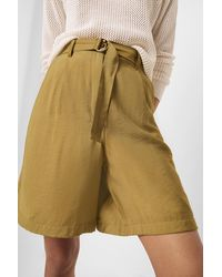 French Connection Brekhna Drape Bermuda Shorts - Green