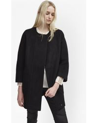 French Connection - Harbour Coating Cocoon Coat - Lyst