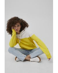 French Connection Sunday Sweat Colour Block Hoodie - Yellow