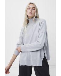 French Connection Babysoft Drop Shoulder Jumper - Grey