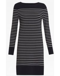 French Connection - Tim Tim Round Neck Striped Dress - Lyst
