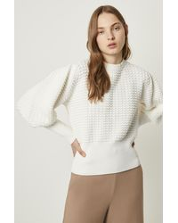 French Connection Mozart Popcorn Crew Neck Sweater - White