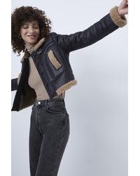 French Connection Belen Faux Fur Jacket - Black