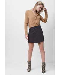 French Connection Abri Leather Mini Asymmetrical Skirt - Multicolor
