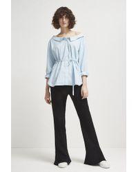 French Connection - Serrana Stripe Tie Waist Shirt - Lyst