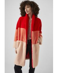 French Connection Izo Faux Fur Coat - Red