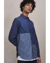 French Connection - Antique Patchwork Indigo Shirt - Lyst