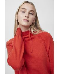 French Connection Lina Vhari Long Sleeve Hoodie - Red