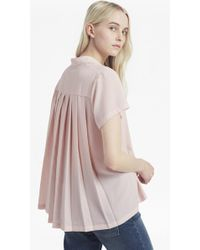 French Connection | Classic Crepe Pleated Back Shirt | Lyst