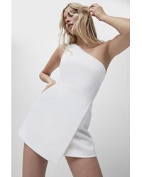French Connection Whisper 1sh Envelope Sk Dress - White