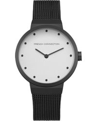 French Connection - Black Mesh Strap Watch - Lyst