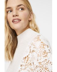 French Connection Maha Lace Mix Textured Jumper - Multicolour