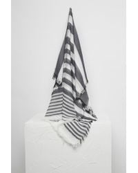 French Connection Arlea Stripe Scarf - Gray