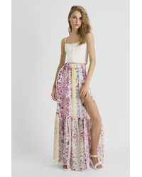 French Connection Ekeze Stripe Crinkle Skirt - Multicolor