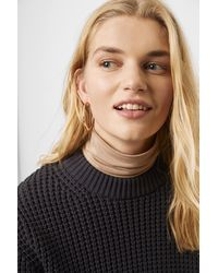 French Connection Luna Mozart Waffle Knit Cropped Jumper - Brown