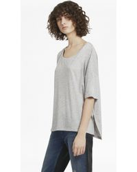 French Connection - Hetty Marl Oversized Jersey T-shirt - Lyst