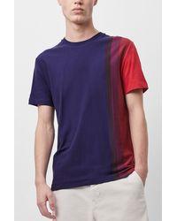 French Connection Gradient Stripe Organic Cotton T-shirt - Blue