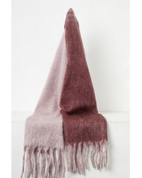 French Connection Ceri Wool Mohair Blend Scarf - Red
