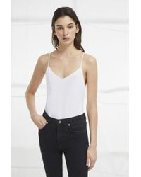 French Connection - Kali Jersey Strappy Bodysuit - Lyst