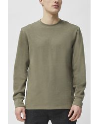 French Connection Double Piqué Long Sleeve T-shirt - Natural