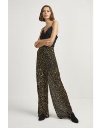 French Connection - Aida Sequin Wide Leg Trousers - Lyst