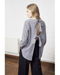 French Connection - Sardinia Stripe Square Neck Shirt - Lyst