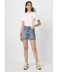 French Connection Reem Denim Mini Skirt - Blue